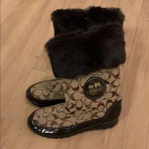 Brand New Brown Coach Winter Boots
